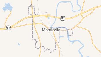 Monticello, Mississippi map