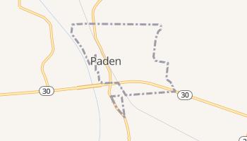 Paden, Mississippi map
