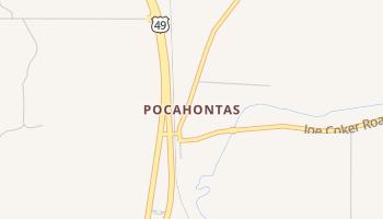 Pocahontas, Mississippi map