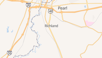 Richland, Mississippi map