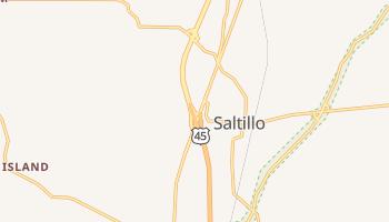 Saltillo, Mississippi map