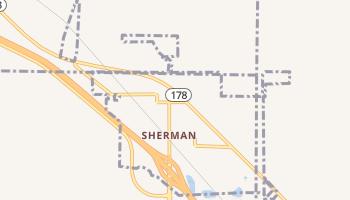 Sherman, Mississippi map