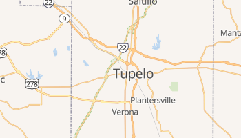 Tupelo, Mississippi map