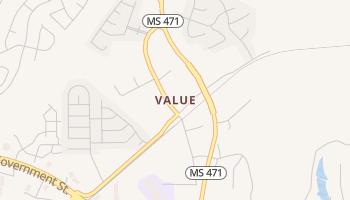 Value, Mississippi map