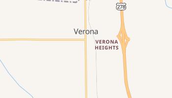 Verona, Mississippi map