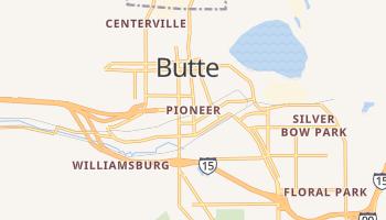 Butte, Montana map