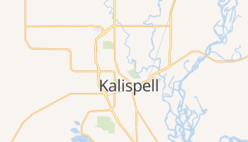 Kalispell, Montana map