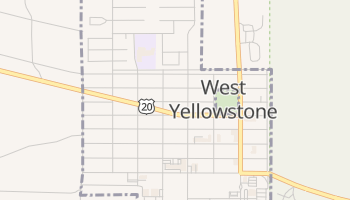 West Yellowstone, Montana map