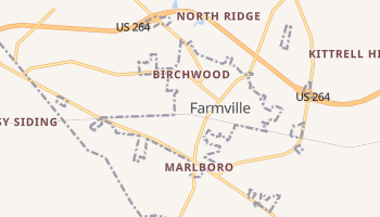 Farmville, North Carolina map