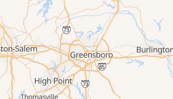 Greensboro, North Carolina map