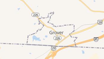 Grover, North Carolina map