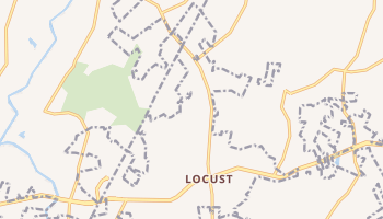 Locust, North Carolina map