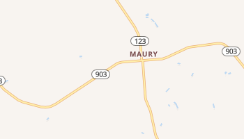 Maury, North Carolina map