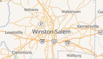 Winston-Salem, North Carolina map