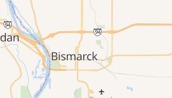 Bismarck, North Dakota map