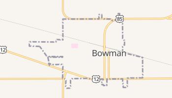 Bowman, North Dakota map