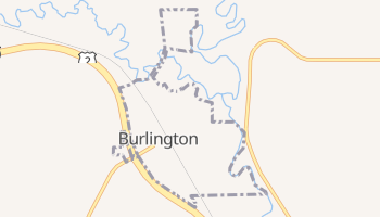 Burlington, North Dakota map