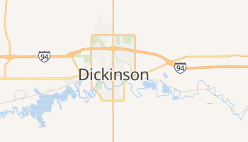 Dickinson, North Dakota map