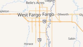Fargo, North Dakota map