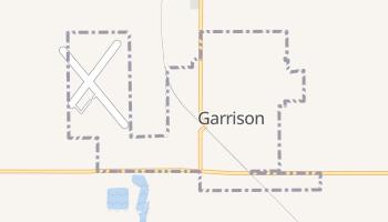 Garrison, North Dakota map