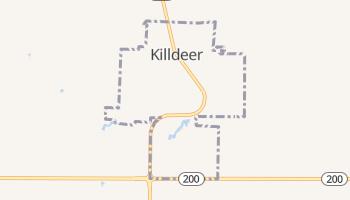 Killdeer, North Dakota map
