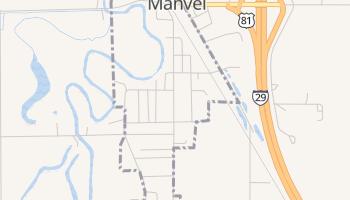 Manvel, North Dakota map