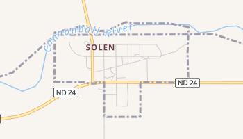 Solen, North Dakota map