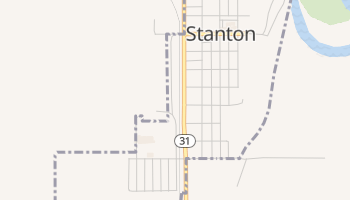 Stanton, North Dakota map