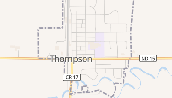 Thompson, North Dakota map