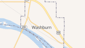 Washburn, North Dakota map
