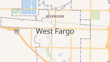West Fargo, North Dakota map
