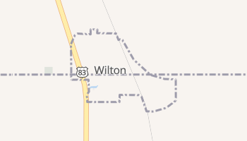 Wilton, North Dakota map