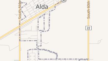 Alda, Nebraska map