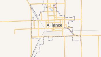 Alliance, Nebraska map