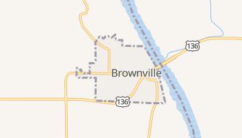 Brownville, Nebraska map
