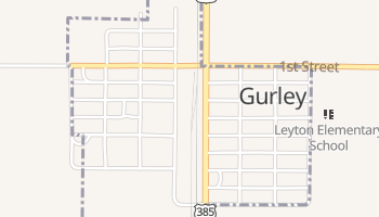 Gurley, Nebraska map