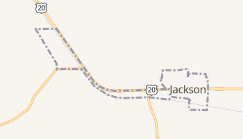 Jackson, Nebraska map