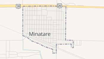 Minatare, Nebraska map