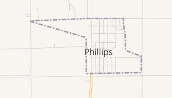 Phillips, Nebraska map
