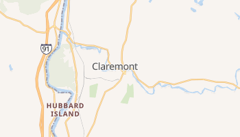 Claremont, New Hampshire map