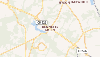 Bennetts Mills, New Jersey map