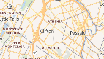 Clifton, New Jersey map