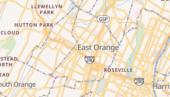 East Orange, New Jersey map