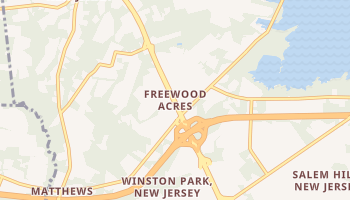 Freewood Acres, New Jersey map