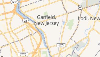 Garfield, New Jersey map