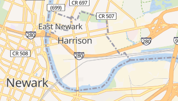 Harrison, New Jersey map
