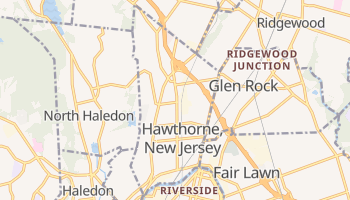 Hawthorne, New Jersey map