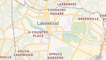 Lakewood, New Jersey map