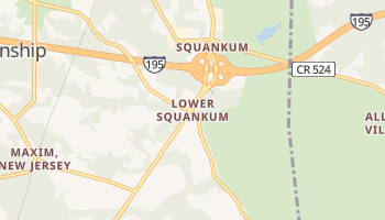 Lower Squankum, New Jersey map