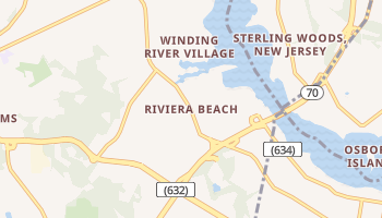 Riviera Beach, New Jersey map